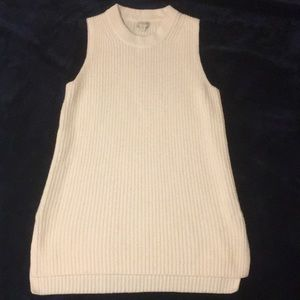 J. Crew sleeveless knit tops (cream & black)